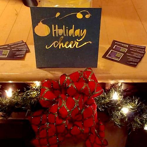 Illuminated 'Holiday Cheer' homemade tip jar, HTC Wine Club - Dec 5, 2019