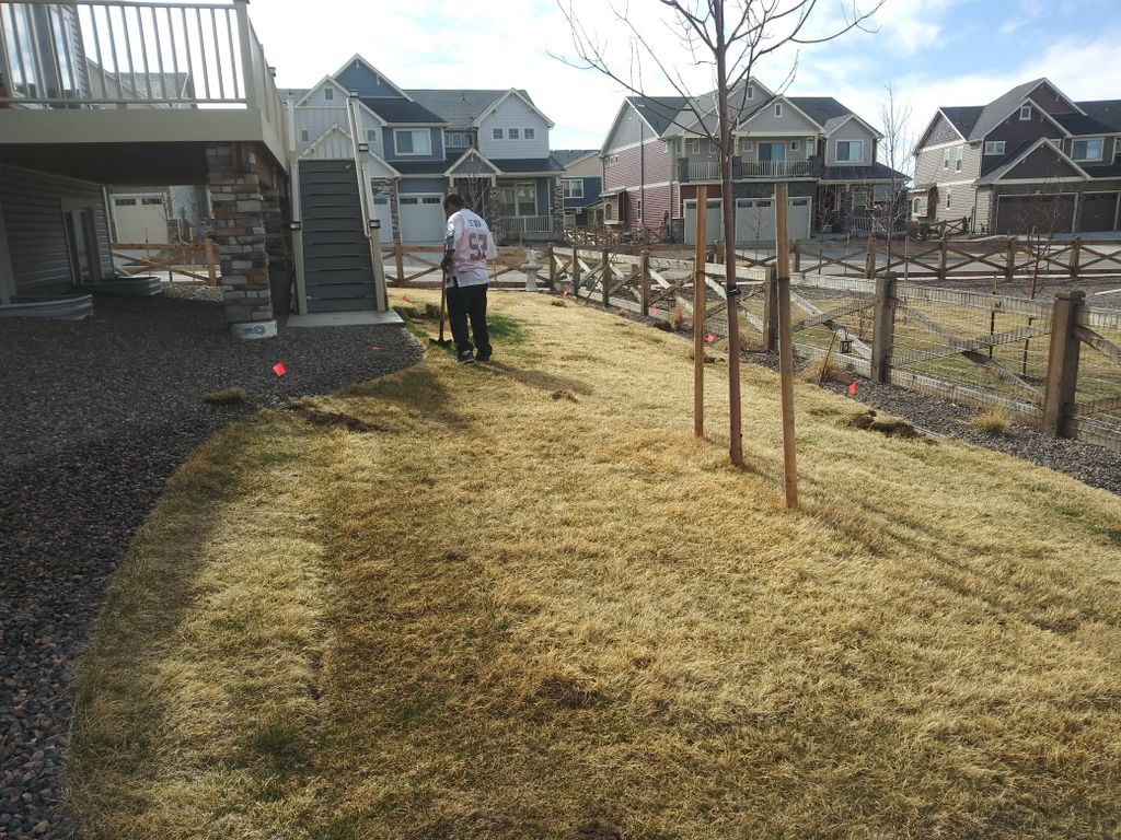 1800'project turf removal synthetic turf installation