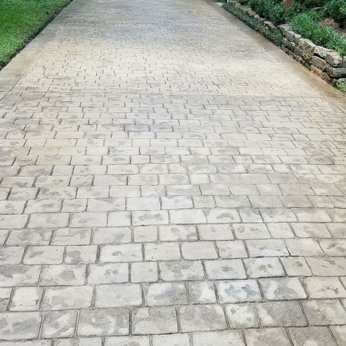 Stamp Stain Cobble Driveway