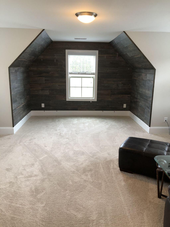 Reclaimed wood bar area