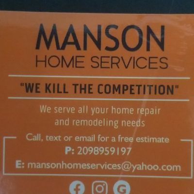 Avatar for Manson Home Services Patterson, CA Thumbtack