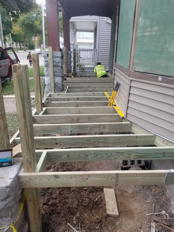 Keefe st porch decks