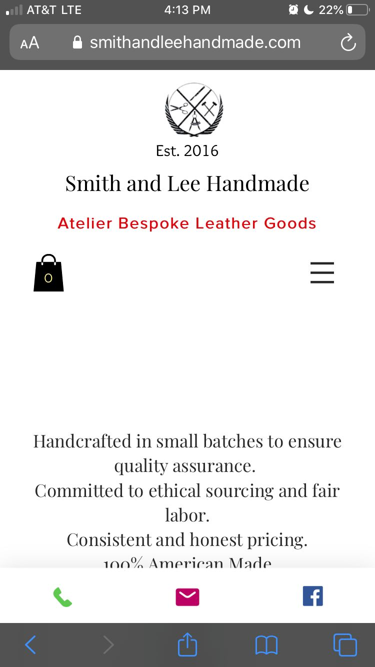 E-commerce leather website