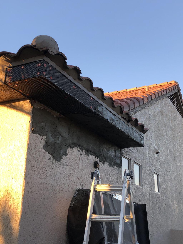 Demo-Roof leak -wood rot -stucco