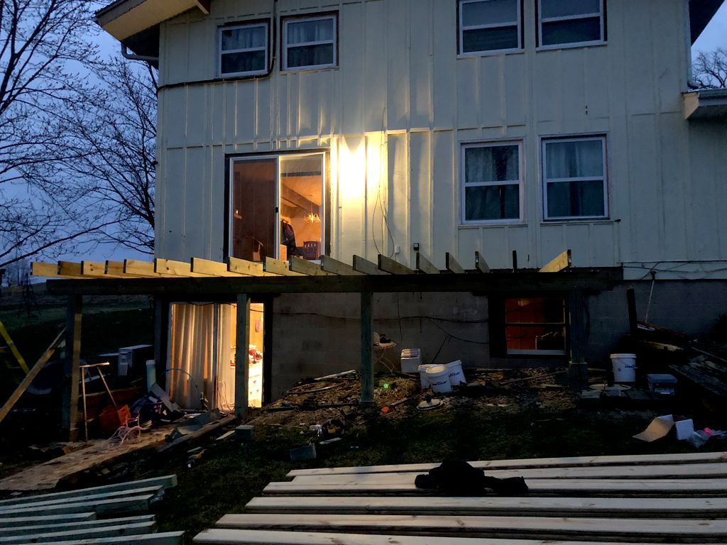 Elevated deck tear down and rebuild