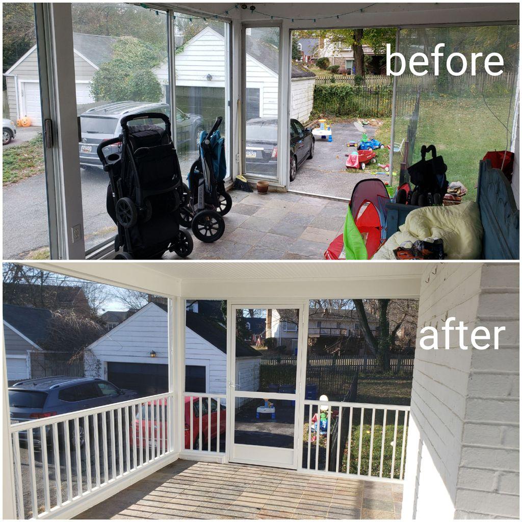 Porch remodel