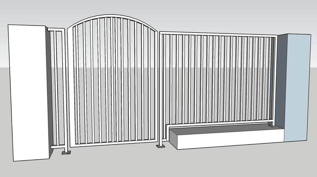Gate and handrail