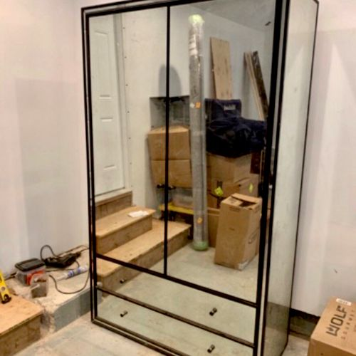 This all glass closet made it to the new location safely because we took great care packing and moving it. Weight Over 500 lb