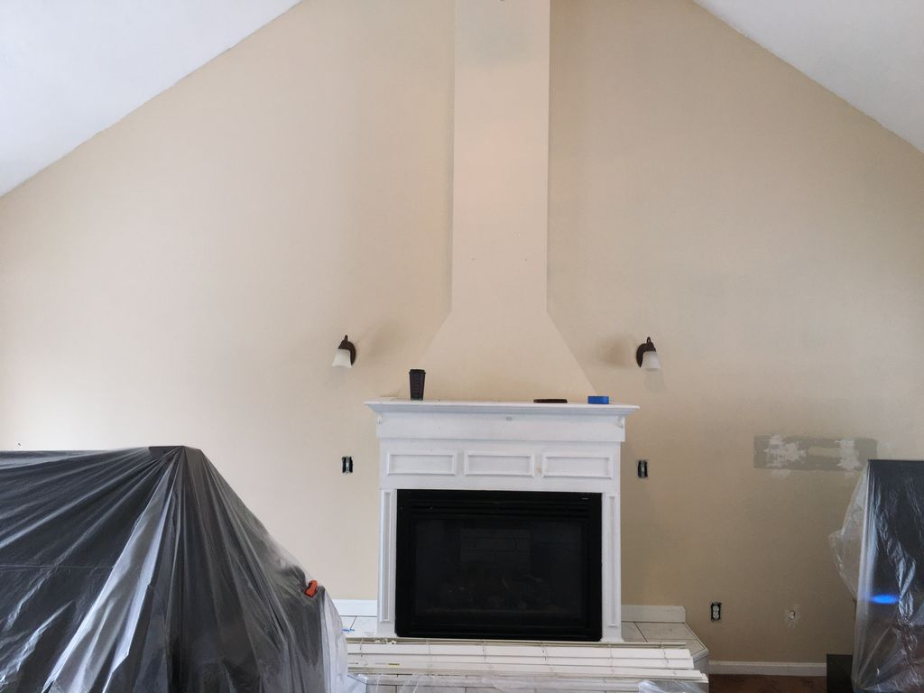 Painting and remodeling the fireplace