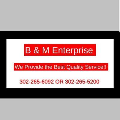 Avatar for B & M Enterprise Milford, DE Thumbtack