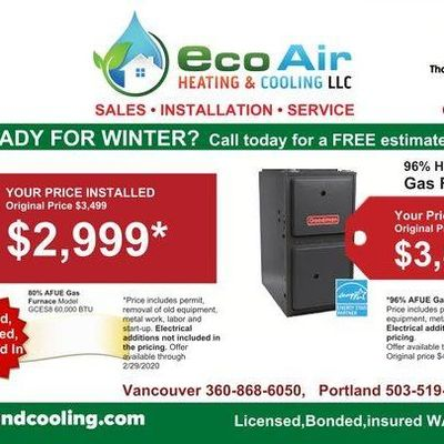 Avatar for eco air heating & cooling llc Oregon City, OR Thumbtack