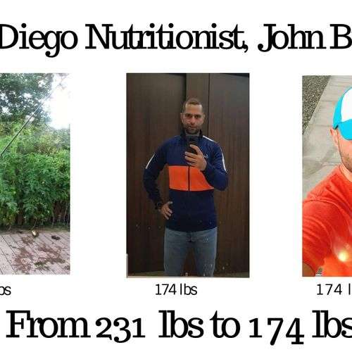 From 231 lbs. to 174 lbs.