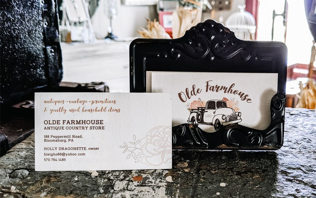 Olde Farmhouse Antique Country Store Logo & Print Materials