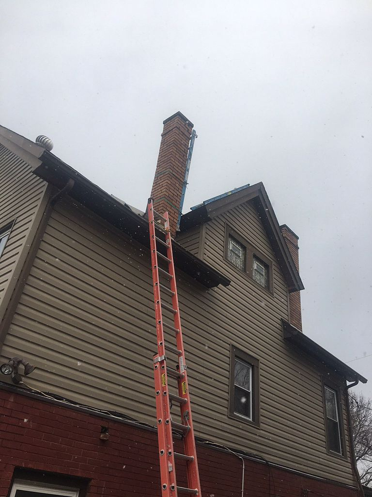 Chimney tear down