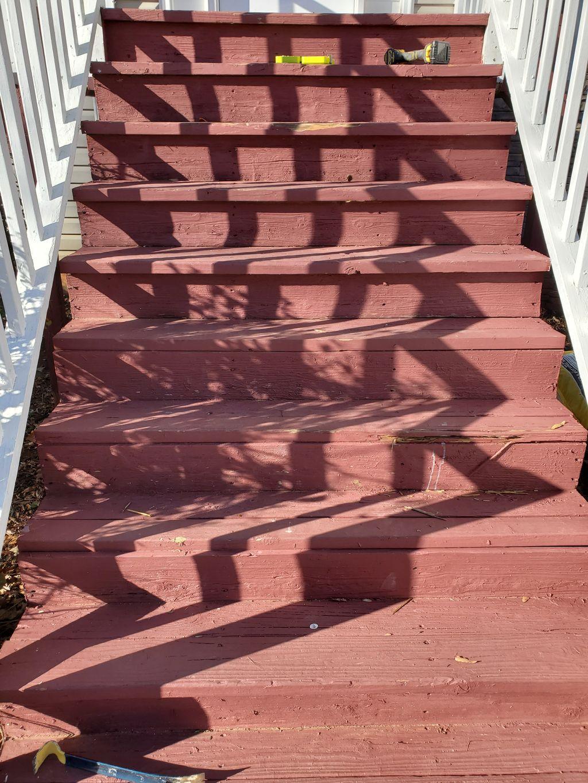 Outdoor stair repair