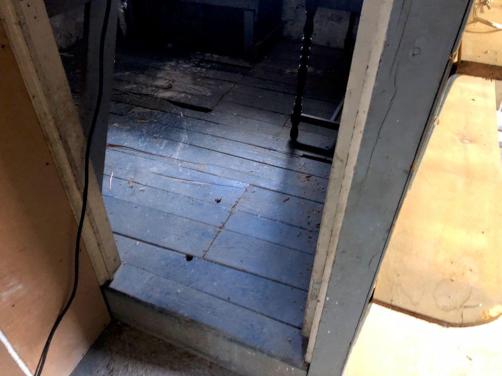 Basement room demolition