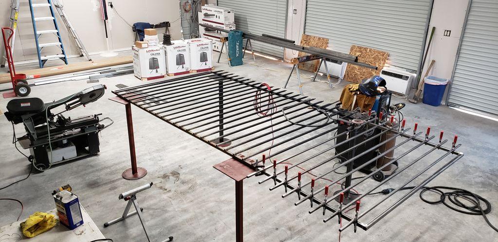 Automated Iron Powder-coated Gate