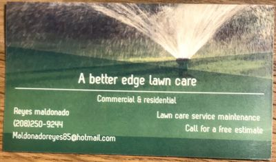 Avatar for A better edge lawn care LLC Middleton, ID Thumbtack