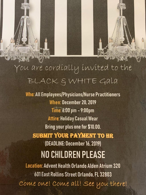 Advent Health Black & Gold Gala