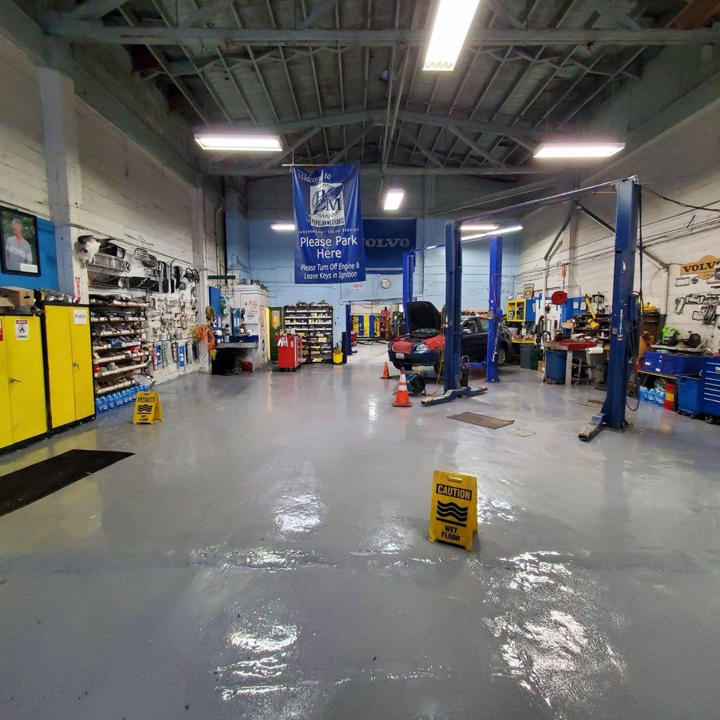 Industrial Floor Coating, automotive repair shop- San Francisco