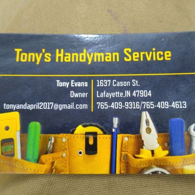 Avatar for Tony's Handyman Services Lafayette, IN Thumbtack