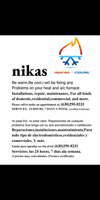 Avatar for Nikas heating and cooling