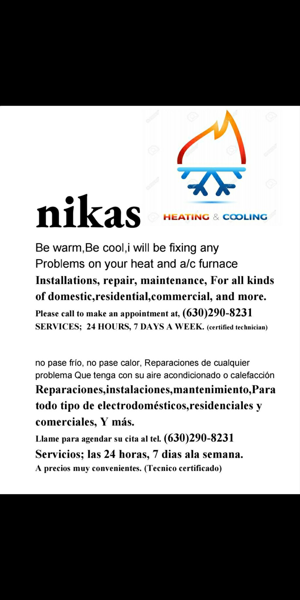 Nikas heating and cooling