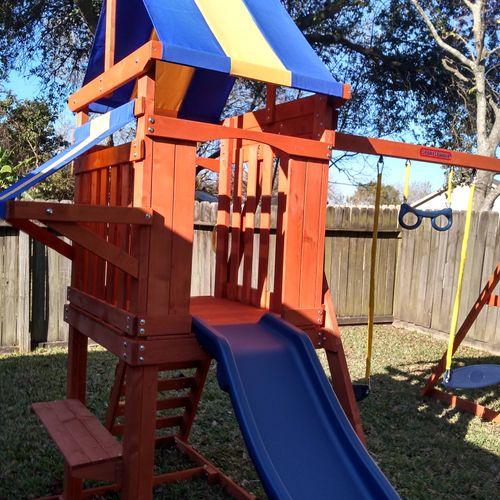 sportspower sunnyslope wooden swing set
