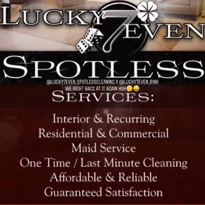 Avatar for Lucky7even Spotless Cleaning Services