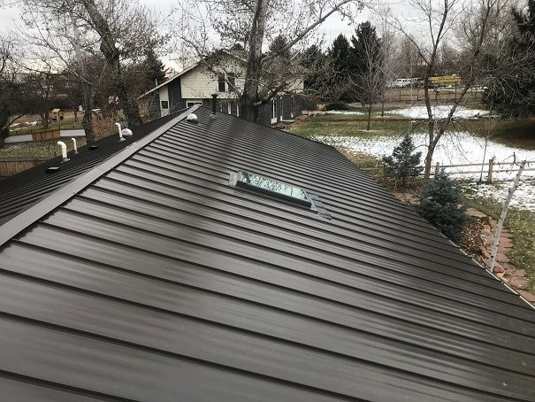 Standing Seam Snap-On Metal Roof, seamless, concealed fasteners