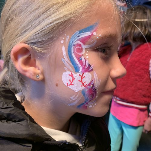 Swirly Face Painting