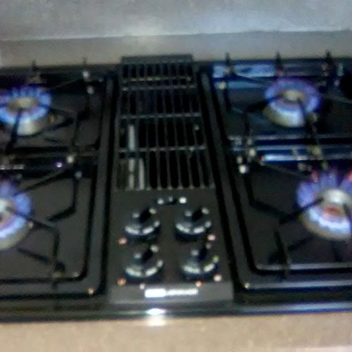 Replaced an Electric stove top with a Gas stove top.
