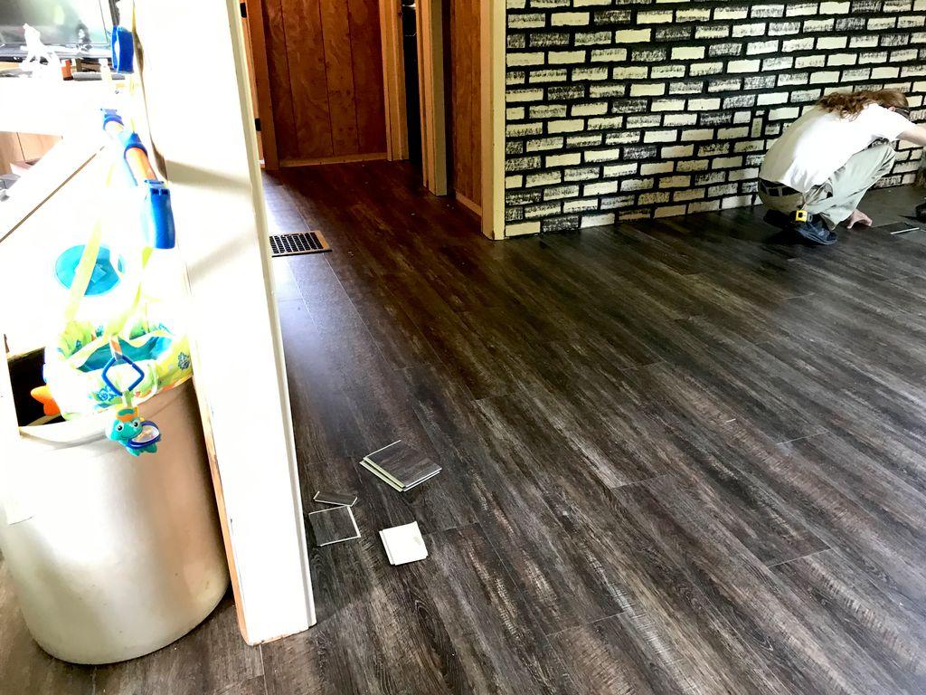 Vinyl Plank Floor Install