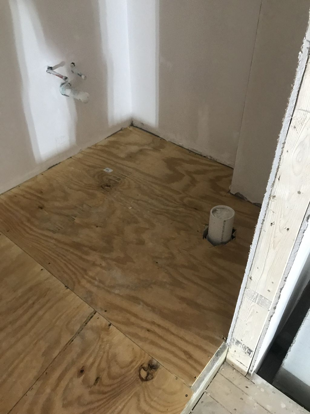 Bathroom tile and installation