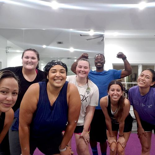 All smiles even after a tough HIIT Workout!