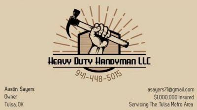 Avatar for Heavy Duty Handyman LLC Tulsa, OK Thumbtack