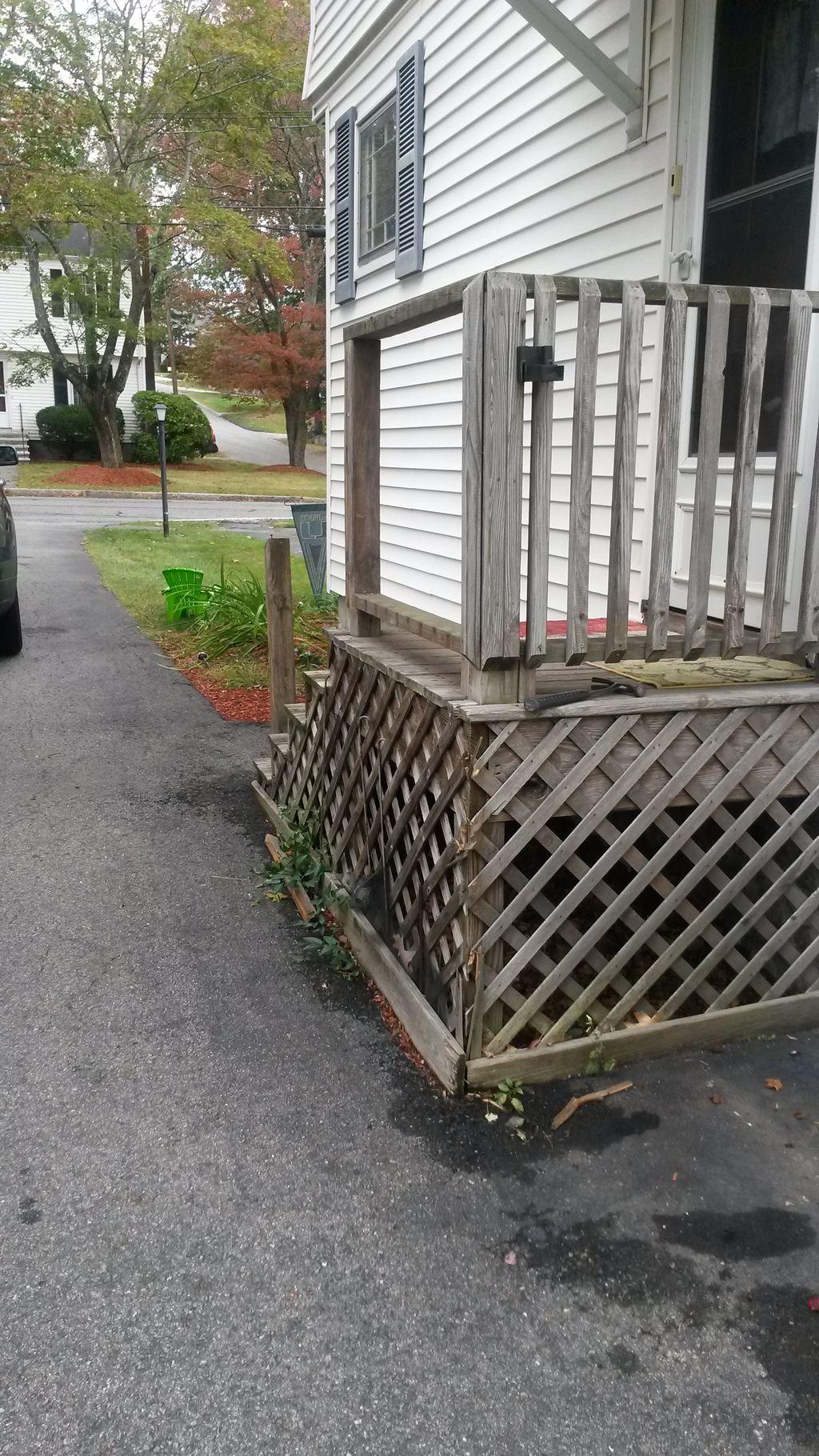Side porch rebuild