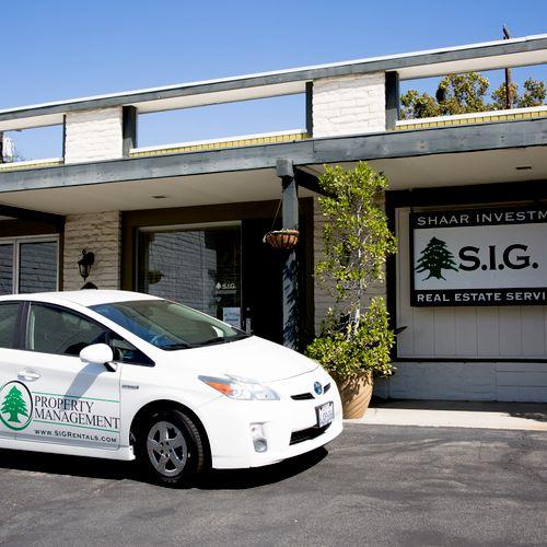 Our Office and Prius in La Crescenta