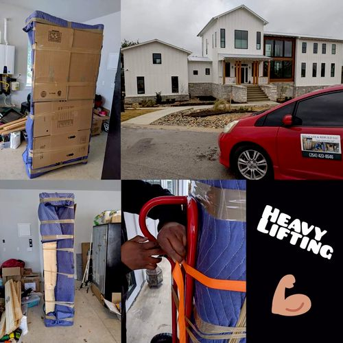 moving items from downstairs to inside residence