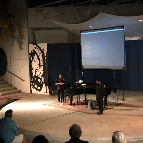 Live Virtual Reality painting performance with new media artist, Steven Fragale. Colly Soleri Music Center (Arcosanti,AZ)
