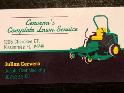 Avatar for Cervera's complete lawn service Kissimmee, FL Thumbtack