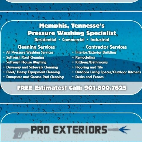 Pro Exteriors Pressure Washing and Services LLC