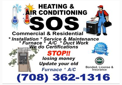 Avatar for SOS Heating & Air Conditioning Country Club Hills, IL Thumbtack