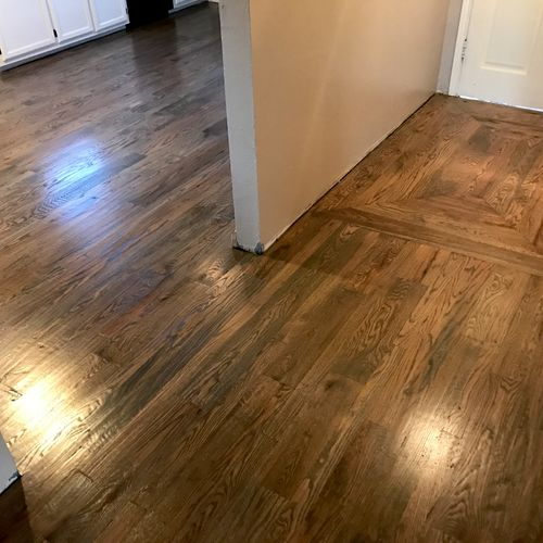 Complete Installation and Finish, custom pattern entry