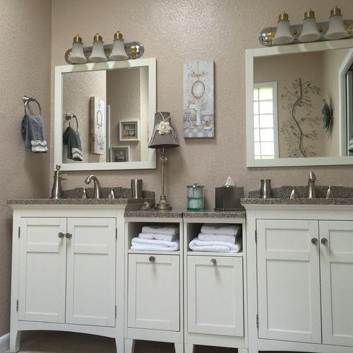 Luxury bathroom finished