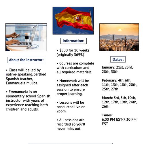 LIVE Online Spanish Classes