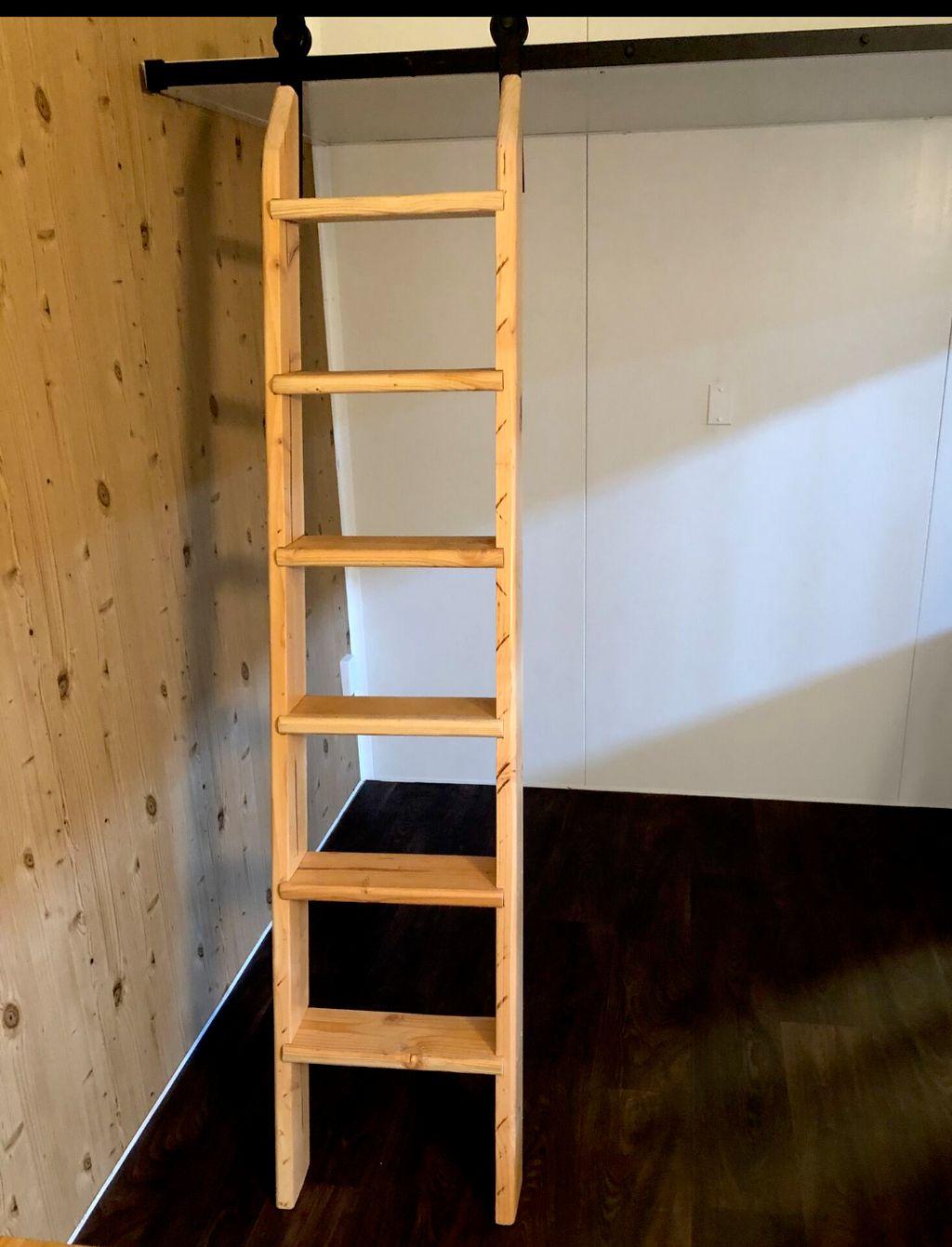 Loft ladder for tiny homes