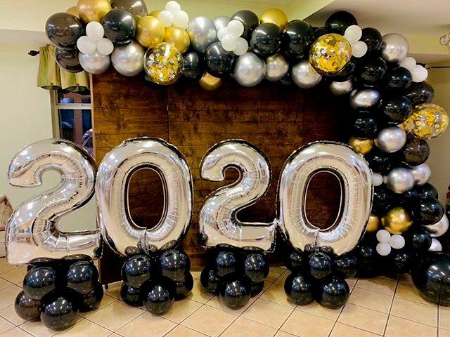 New Years Day Balloon Decor