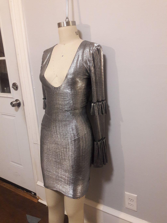 Custom Bodycon, Tiered Sleeve Style Dress