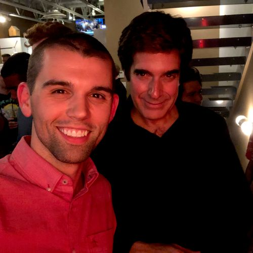 Brice with David Copperfield in Vegas